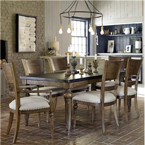 Universal New Bohemian 7 Piece Dining Set
