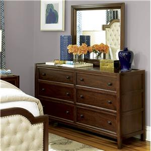 Universal Silhouette Dresser and Mirror Combo