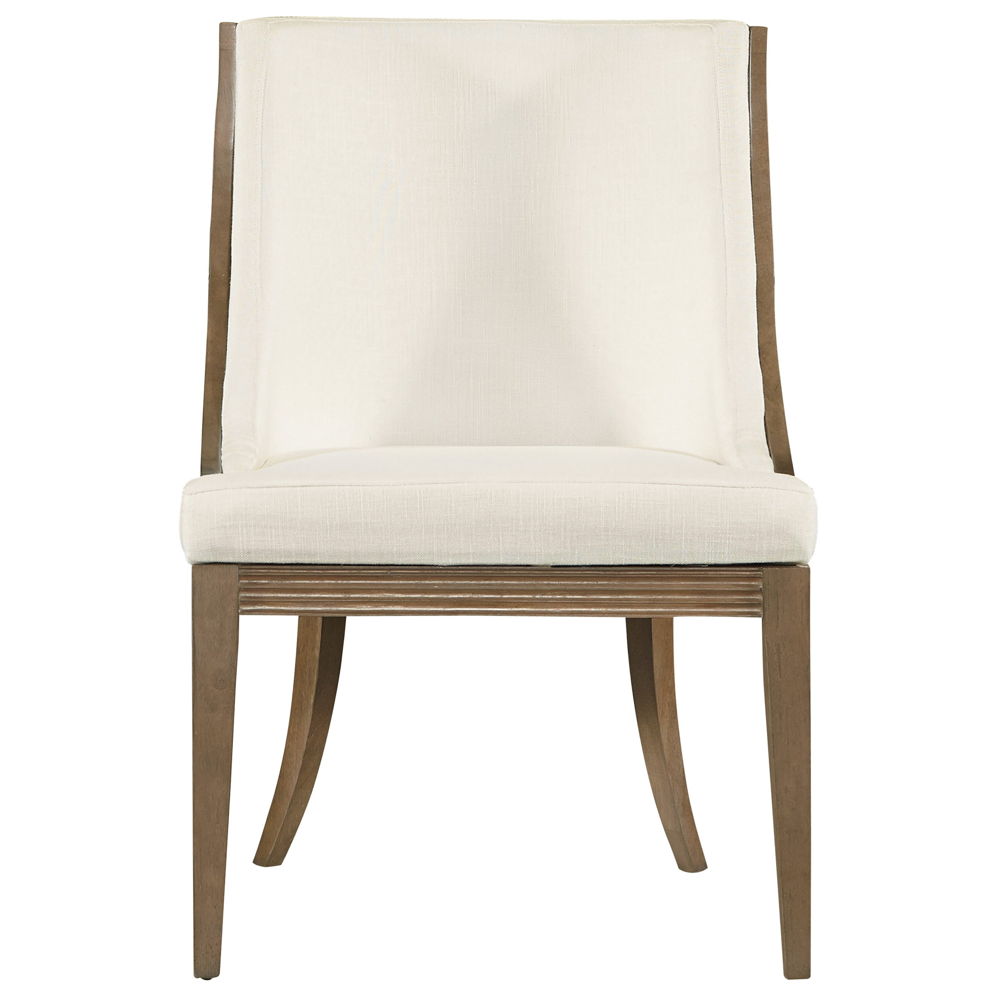 Mid Century Modern Upholstered Dining Chair With Ladder Back