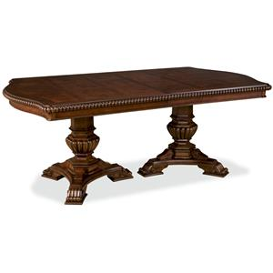 Universal Villa Cortina Double Pedestal Dining Room Table