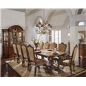 Universal Villa Cortina Double Pedestal Dining Room Table With Three Leaves
