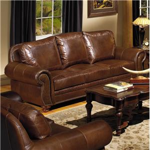 USA Premium Leather 8555 Traditional Leather Sofa