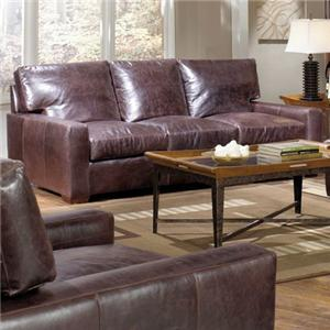 USA Premium Leather 9955 Leather Sofa
