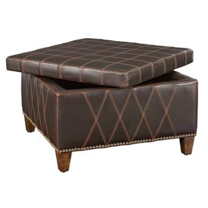 Uttermost Accent Furniture Wattley Storage Ottoman