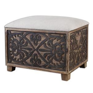Uttermost Accent Furniture Abelardo Cushioned Small Bench