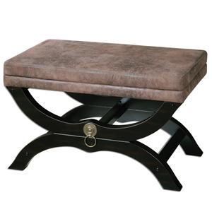 Uttermost Accent Furniture Hartman Cushioned Bench