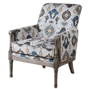 Uttermost Accent Furniture Dyani Aged Wood Armchair