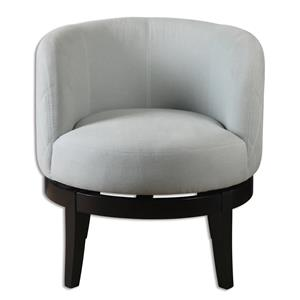 Uttermost Accent Furniture Aurick Gray Swivel Chair