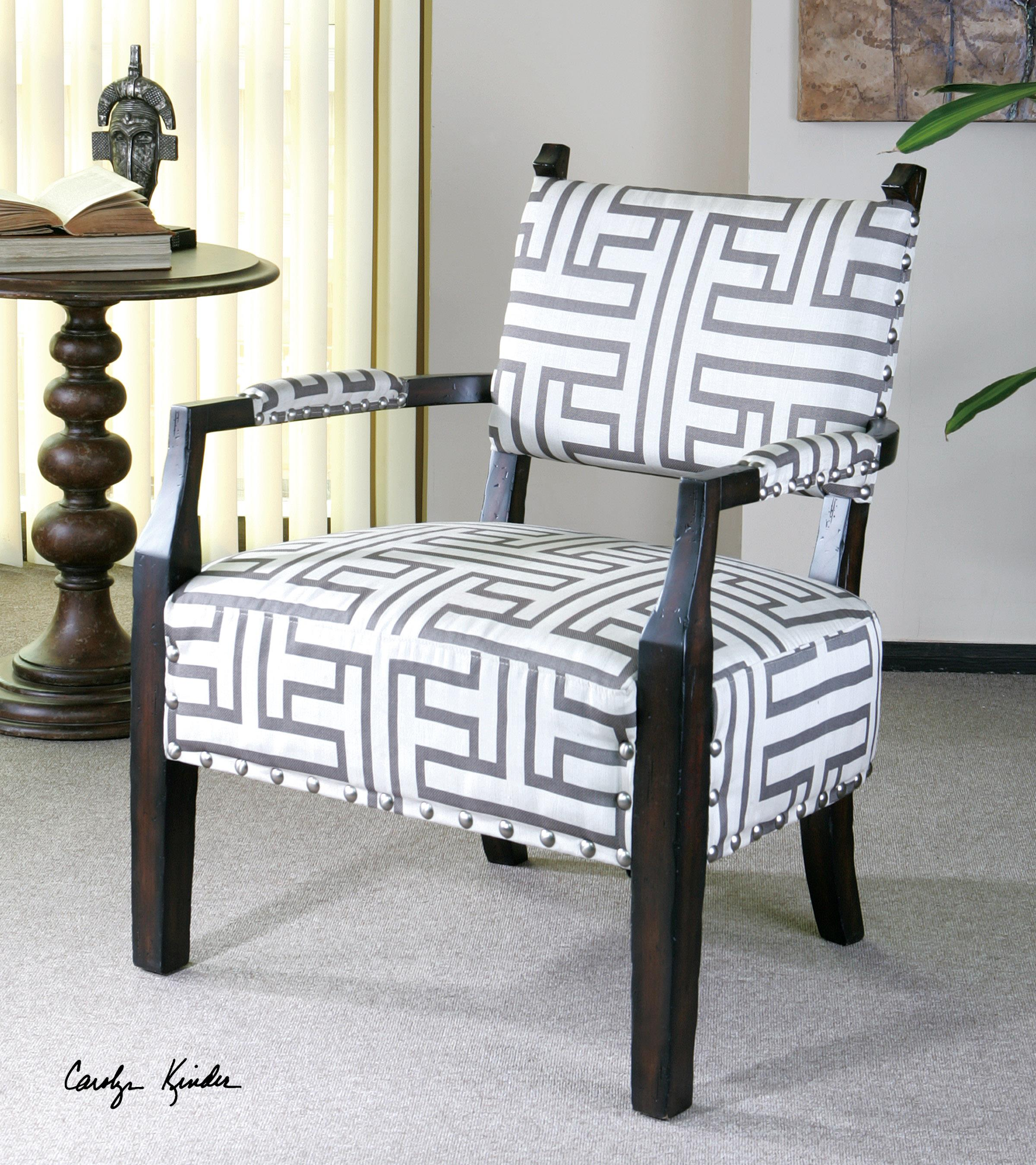 Terica Geometric Accent Chair by Uttermost