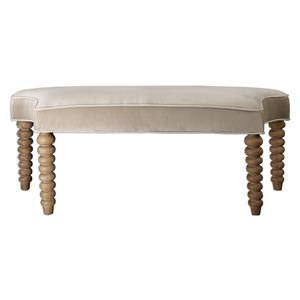 Uttermost Accent Furniture Parlan Beige Bench