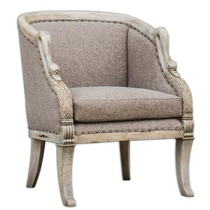 Uttermost Accent Furniture Swaun Hand Carved ArmChair