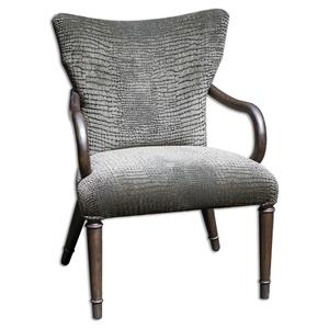 Uttermost Accent Furniture Lagan Reptile Pattern Accent Chair