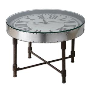 Uttermost Accent Furniture Cassem Clock Table