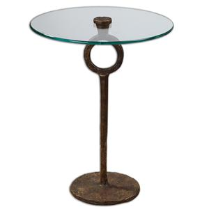 Uttermost Accent Furniture Diogo Glass Accent Table