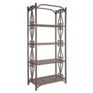 Uttermost Accent Furniture Teyona Metal Etagere