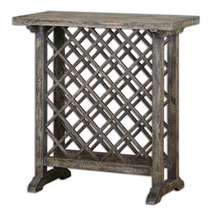 Uttermost Accent Furniture Annileise Wooden Wine Table