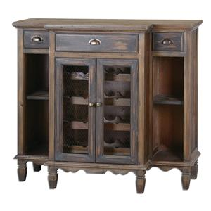 Uttermost Accent Furniture Suzette Wood Wine Cabinet