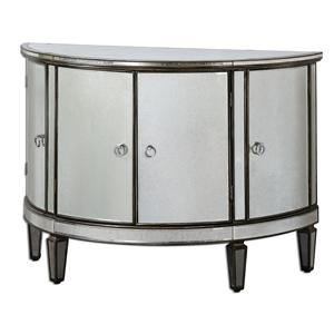 Uttermost Accent Furniture Sainsbury Mirrored Console Cabinet