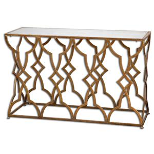 Uttermost Accent Furniture Osea Gold Console Table