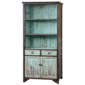 Uttermost Accent Furniture Dunixi Distressed Bookcase