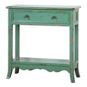 Uttermost Accent Furniture Celso Sea-Green Accent Table