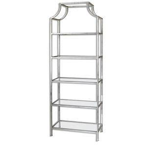 Uttermost Accent Furniture Aurelie Silver Etagere