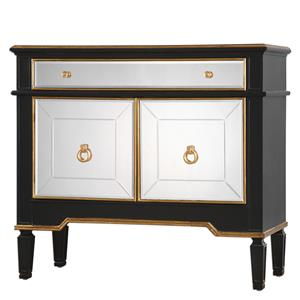 Uttermost Accent Furniture Marciel Mirrored Wine Cabinet