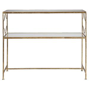 Uttermost Accent Furniture Genell Gold Iron Console Table