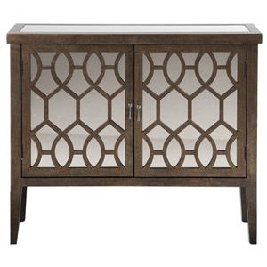 Uttermost Accent Furniture Kelson Mirrored Console Cabinet