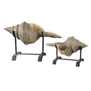 Uttermost Accessories Conch Shell Sculpture Set of 2