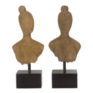 Uttermost Accessories Arlie Wooden Sculptures Set of 2