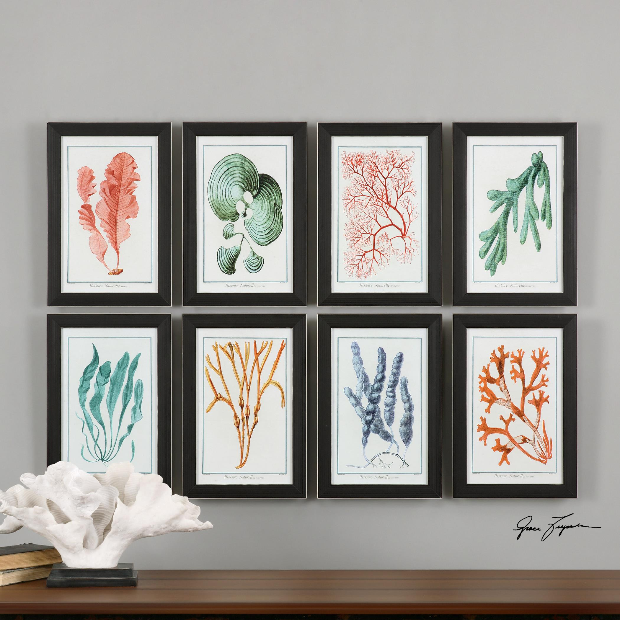 colorful algae framed art s 8 by uttermost wolf and gardiner