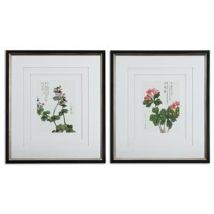 Uttermost Art Asian Flowers Framed Art Set of 2