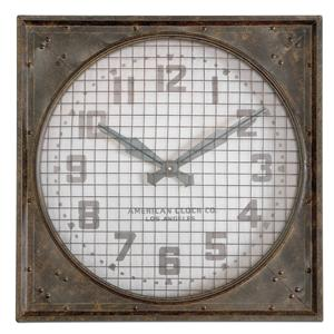 Uttermost Clocks Warehouse Clock with Grill
