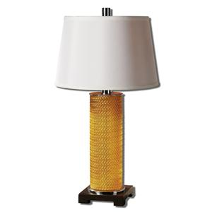 Uttermost Lamps Antonia Metallic Gold Glass Table Lamp