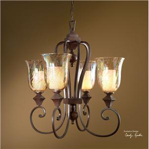 Uttermost Lighting Fixtures Elba 4-Light Chandelier