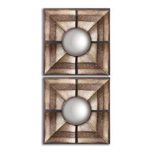 Uttermost Mirrors Euthalia Square Mirrors, Set of 2