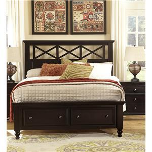 Vaughan Bassett Ellington Queen Garden Storage Bed