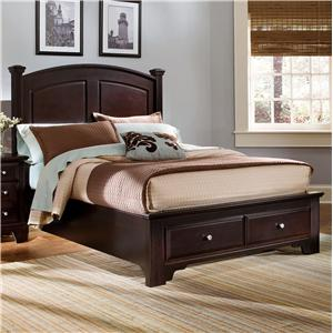 Vaughan Bassett Hamilton/Franklin King Panel Storage Bed