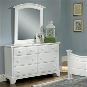 Vaughan Bassett Hamilton Franklin Dresser - 6 Drawers & Mirror