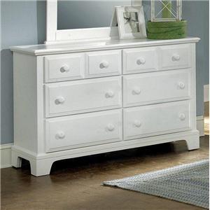 Vaughan Bassett Hamilton Franklin Dresser - 6 Drawers