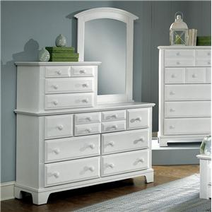 Vaughan Bassett Hamilton Franklin Vanity Dresser with Vanity Mirror