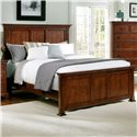Vaughan Bassett Forsyth King Panel Bed - Item Number: BB77-668+866+922