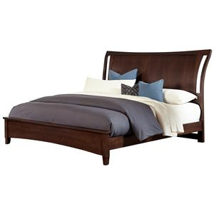 Vaughan Bassett Commentary Queen Wing Bed with Low Profile Footboard