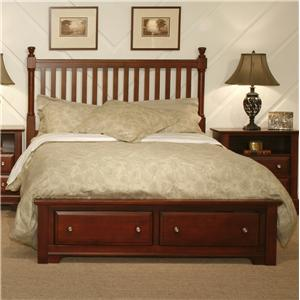 Vaughan Bassett Cottage King Slat Storage Bed