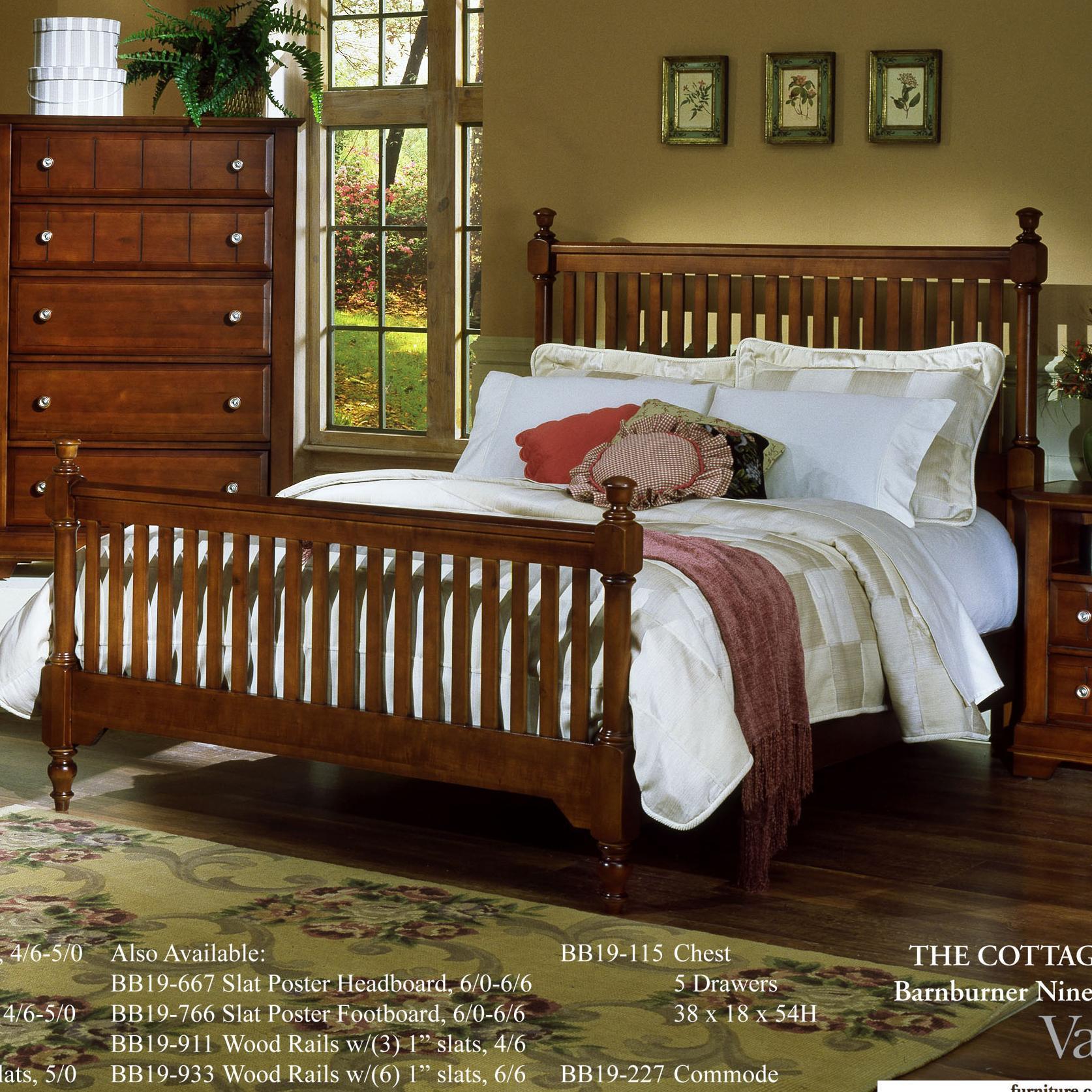 King slat poster bed