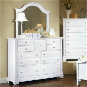 Vaughan Bassett Cottage Dresser and Mirror
