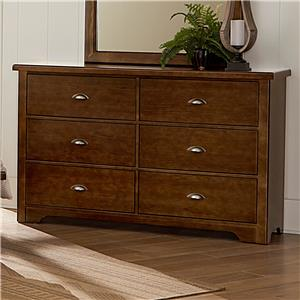 Vaughan Bassett D-Day Dresser - 6 Drawers