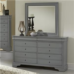 Vaughan Bassett French Market Dresser & Landscape Mirror