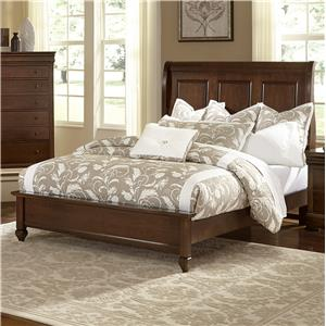 Vaughan Bassett French Market Queen Bed w/ Sleigh Headboard & Low Ftbd